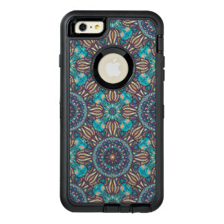 Colorful abstract ethnic floral mandala pattern OtterBox defender iPhone case