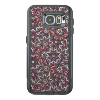 Colorful abstract ethnic floral mandala pattern OtterBox samsung galaxy s6 case