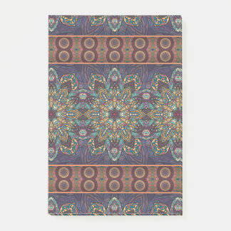 Colorful abstract ethnic floral mandala pattern post-it® notes