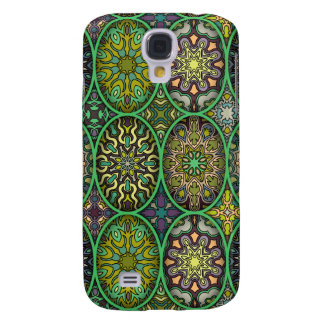 Colorful abstract ethnic floral mandala pattern samsung galaxy s4 cover