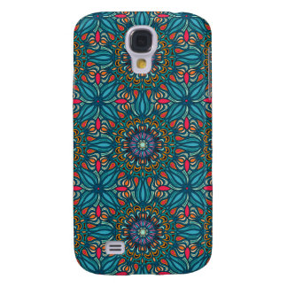Colorful abstract ethnic floral mandala pattern samsung galaxy s4 covers