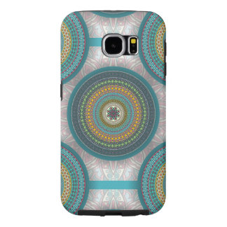 Colorful abstract ethnic floral mandala pattern samsung galaxy s6 cases