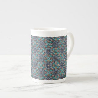Colorful abstract ethnic floral mandala pattern tea cup