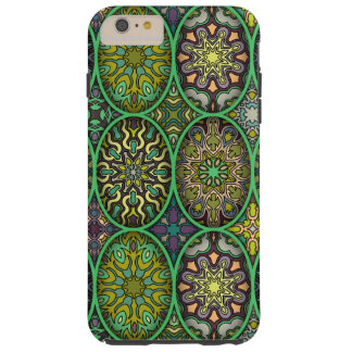Colorful abstract ethnic floral mandala pattern tough iPhone 6 plus case