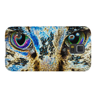 Colorful Abstract eyes cat Case For Galaxy S5
