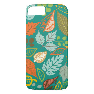 Colorful Abstract Fall Leafs Black Background iPhone 7 Case