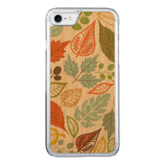 Colorful Abstract Fall Leafs Pattern Carved iPhone 8/7 Case