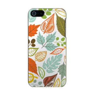 Colorful Abstract Fall Leafs Pattern Incipio Feather® Shine iPhone 5 Case