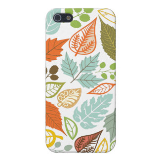 Colorful Abstract Fall Leafs Pattern iPhone 5/5S Covers