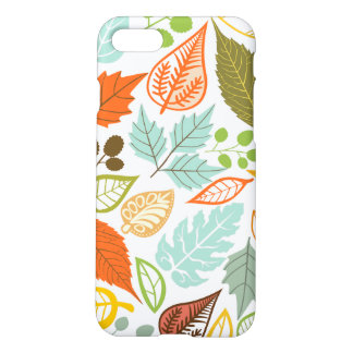 Colorful Abstract Fall Leafs Pattern iPhone 7 Case