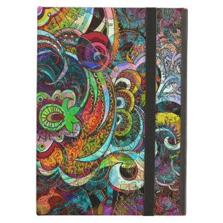 Colorful Abstract Floral Collage iPad Air Cover