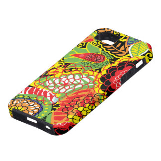 Colorful Abstract Floral Collage iPhone 5 Covers