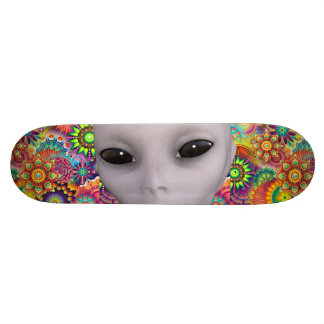Colorful Abstract Floral Pattern Extraterrestrial 21.6 Cm Skateboard Deck