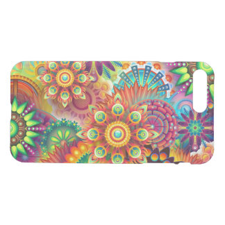 Colorful Abstract Floral Pattern iPhone 7 Plus Case