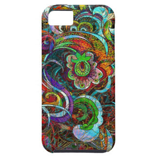 Colorful Abstract Floral Swirls Grunge iPhone 5 Cases