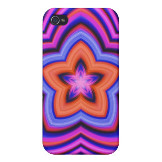 Colorful Abstract Flower Art iPhone 4/4S Cases