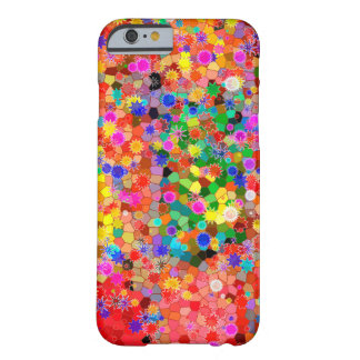 Colorful abstract Flower Case Barely There iPhone 6 Case