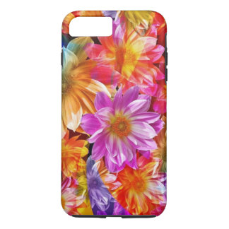 colorful abstract flowers art iPhone 7 plus case