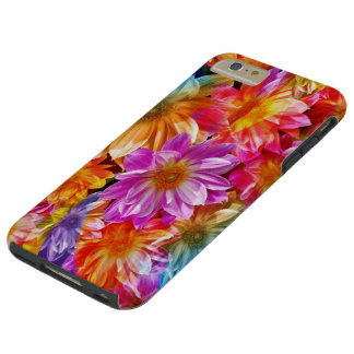 colorful abstract flowers art tough iPhone 6 plus case