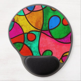 Colorful Abstract Gel Mouse Pad