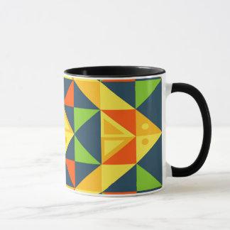 Colorful Abstract Geometric Grid Mug