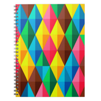 Colorful Abstract Geometric Grid Note Book