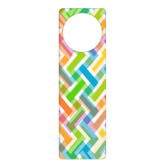 Colorful Abstract Geometric Pattern Door Hanger