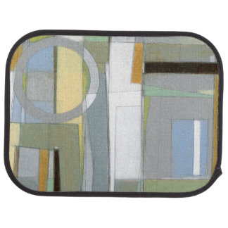 Colorful Abstract Geometric Shapes Floor Mat