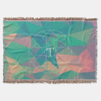 Colorful Abstract Geometric Triangles Monogram