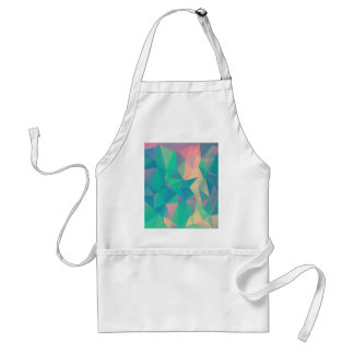 Colorful Abstract Geometric Triangles Shapes Forms Standard Apron
