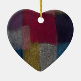 Colorful Abstract Heart Ornament