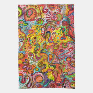 Colorful Abstract Kitchen Towel