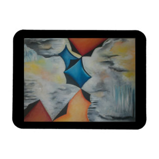 Colorful Abstract Kites Kitchen Magnet