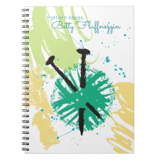 colorful abstract knitting needles ball of yarn notebooks