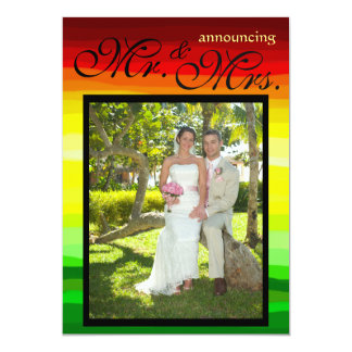 Colorful Abstract Landscape - Wedding Announcement