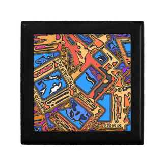 Colorful Abstract Layers Gift Box