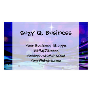 Colorful Abstract Light Rays Butterflies Bubbles Pack Of Standard Business Cards