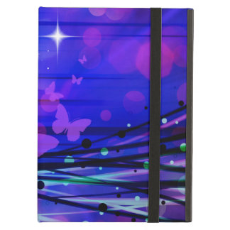 Colorful Abstract Light Rays Butterflies Bubbles iPad Air Cover