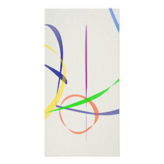 Colorful Abstract Lines Custom Photo Card