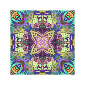 Colorful Abstract Mandala Canvas Print