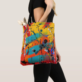 Colorful Abstract Modern Expressionist Artistic Tote Bag