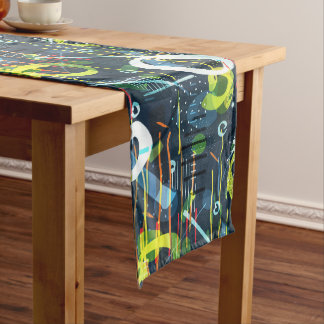 Colorful Abstract Modern Geometric Pattern Medium Table Runner