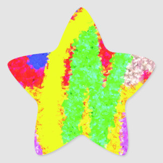 colorful abstract modern pattern star sticker