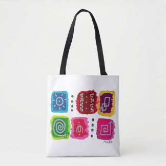Colorful Abstract Modern Tribal Aztec Boho Tote Bag