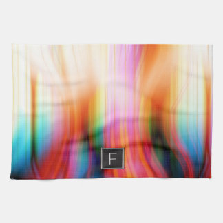 Colorful Abstract Monogram | Kitchen Towel