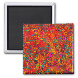Colorful Abstract Multi Color Background Square Magnet