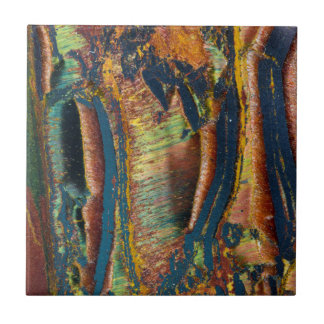 Colorful abstract of a Tiger eye Ceramic Tile
