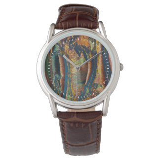 Colorful abstract of a Tiger eye Watch