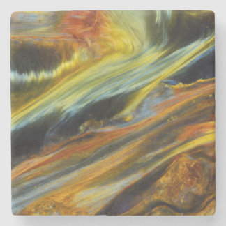 Colorful abstract of Pietersite Stone Coaster