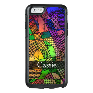 Colorful Abstract of Textures & Patterns w/ Name OtterBox iPhone 6/6s Case